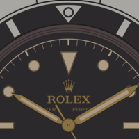 Rolex-Submariner-Pencil-Hands-Diall