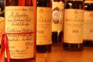 Collectors bottles of macallan