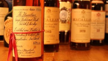 Collectors bottles of macallan