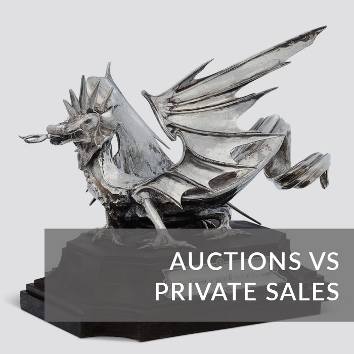 Button to navigate to the Auctions versus Private Sales page