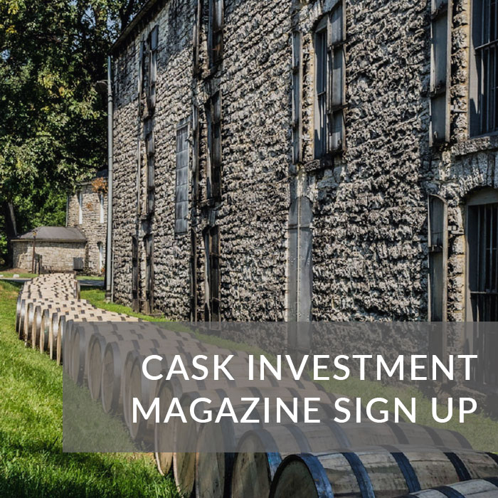A button that will take you to the sign up page for our whisky cask investment guide