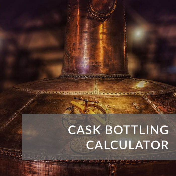 A button that will take you to our whisky cask calculator