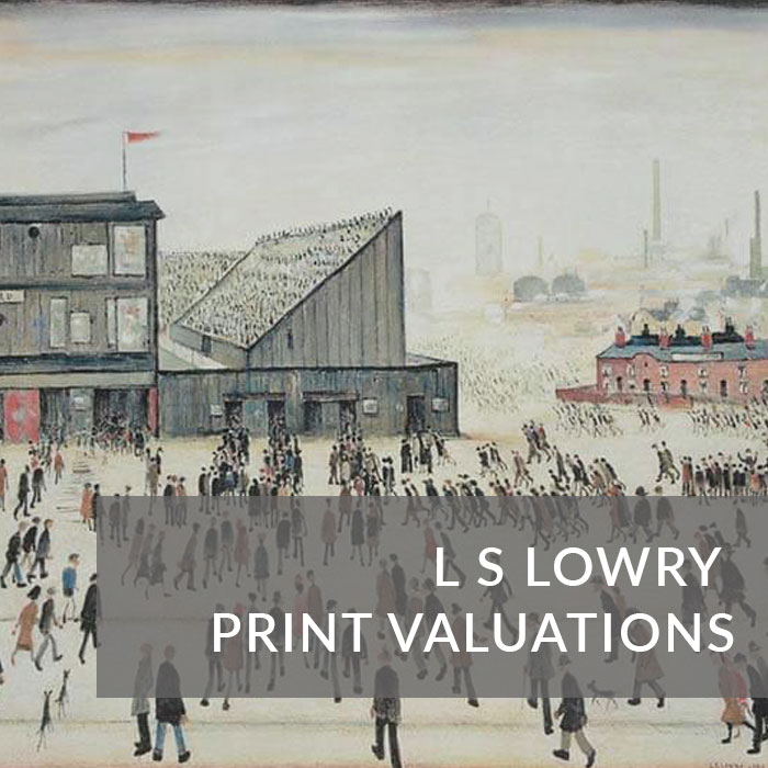 Signed LS Lowry print valuations