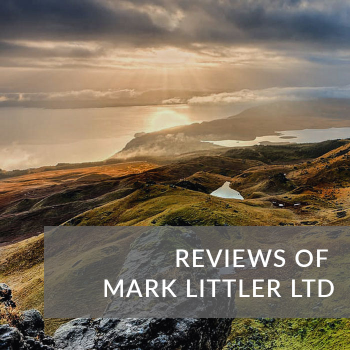 A button that will take you to reviews of Mark Littler Ltd
