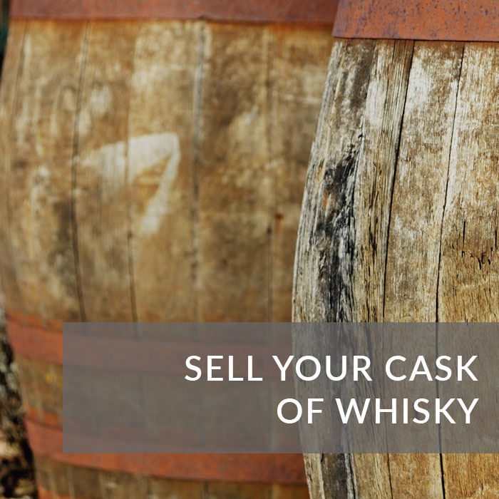 Button to navigate to the Sell A Cask Of Whisky page