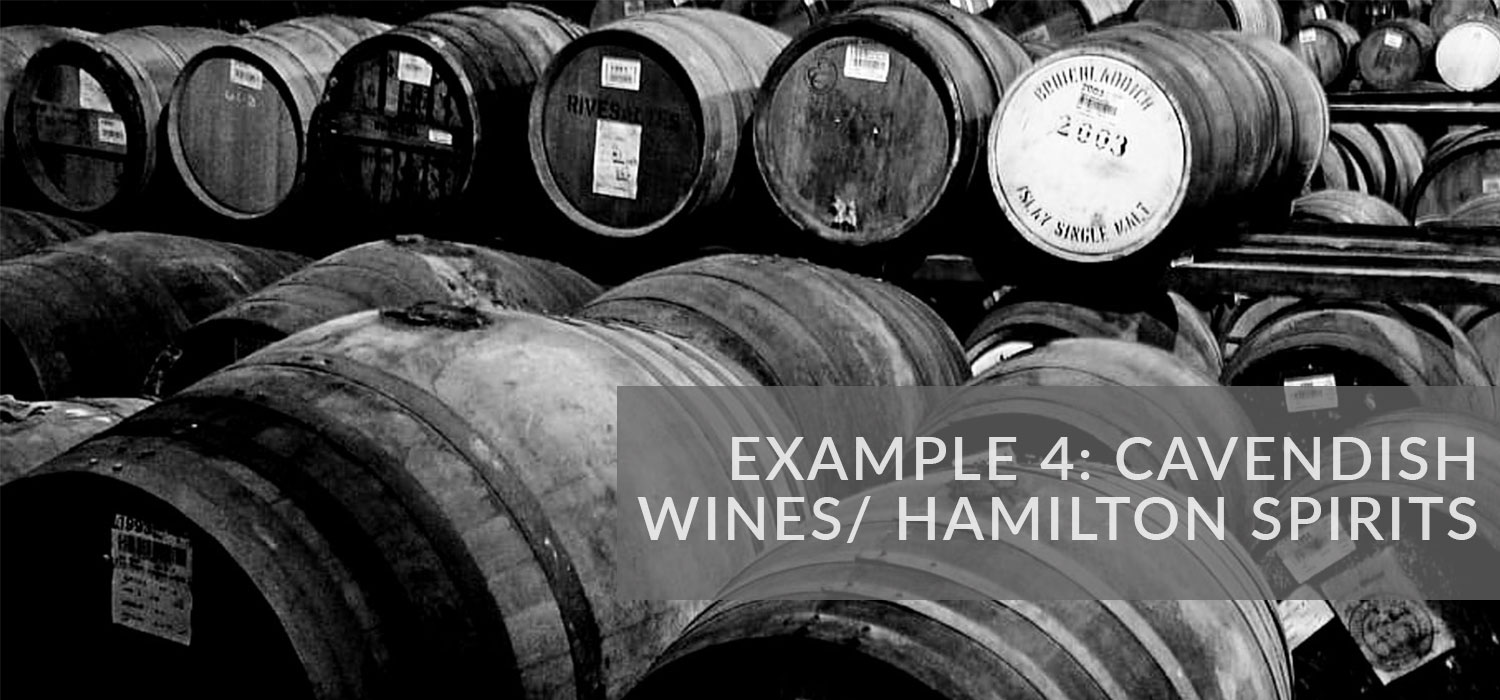 Example 4: Cavendish Wines & Hamilton Spirits