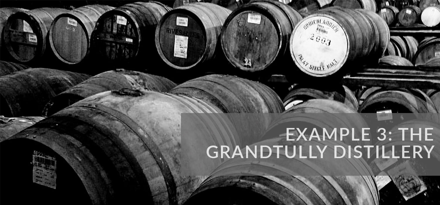 Example 3: The Grandtully Distillery