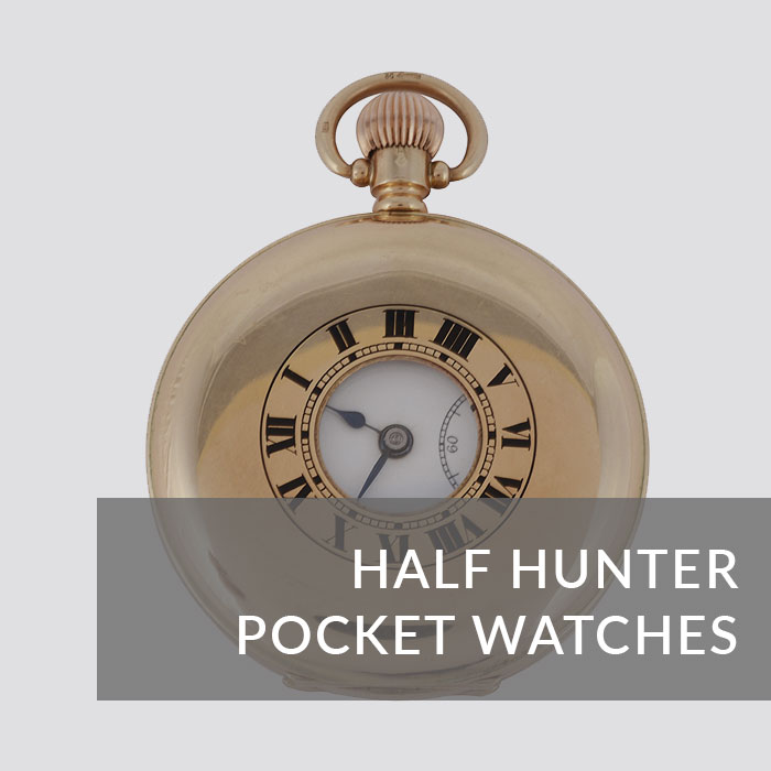 Button to navigate to the Half Hunter Pocket Watches page