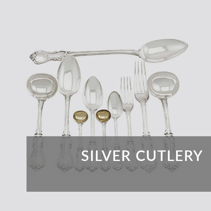 Button to navigate to the Silver Cutlery page