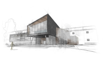 An impression of the Clynelish visitor's centre