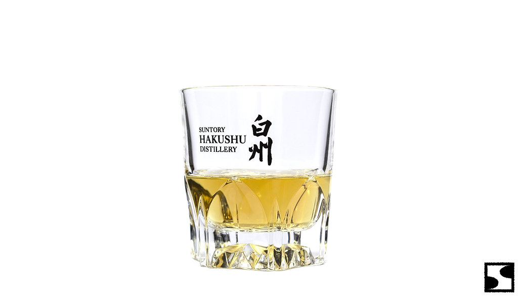 A glass of hakushu