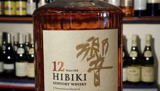 A bottle of Hibiki 12 year old