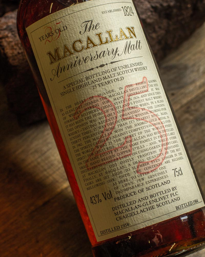 Macallan Whisky 25 Year Old Sell Online or at Auction
