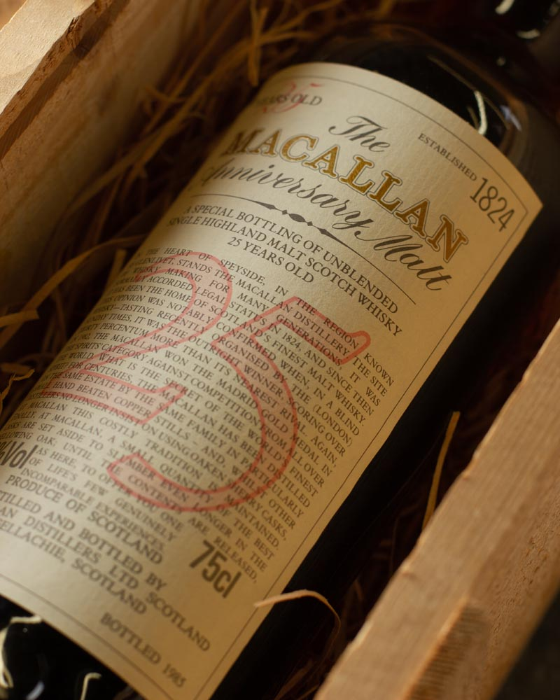 Macallan 25 Year Old Valuations