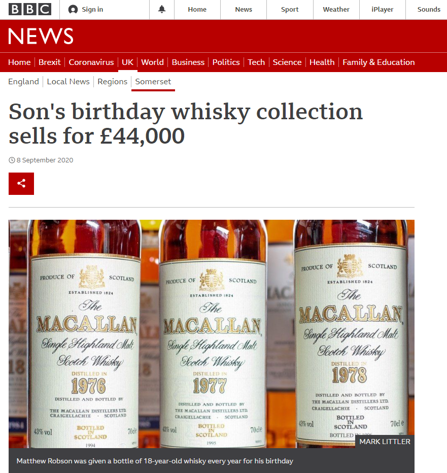 Mark Litler Whisky Broker BBC