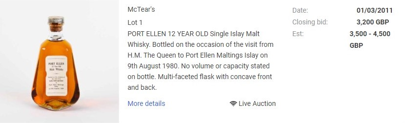 Port Ellen 1980 at auction