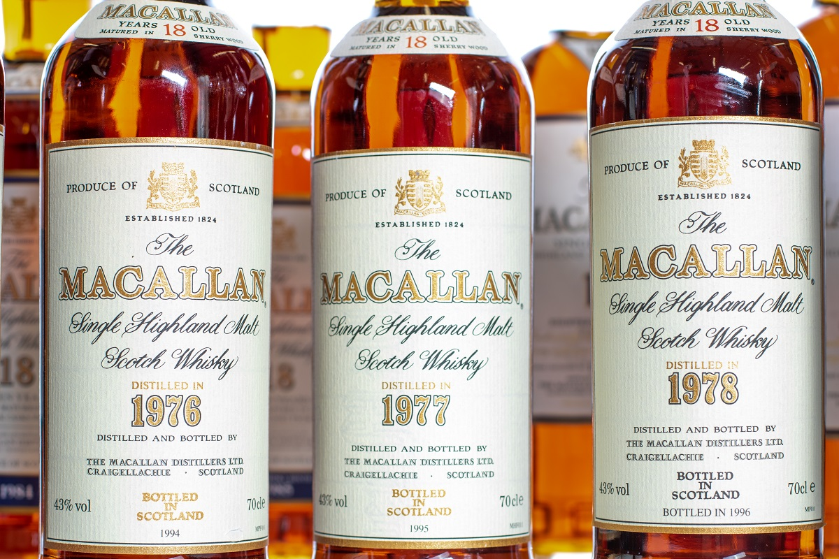 The standard size for scotch whisky bottles changed to 70cl in 1990