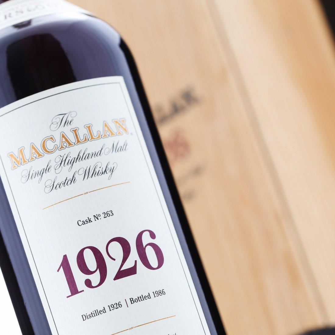 macallan 1926 fine and rare
