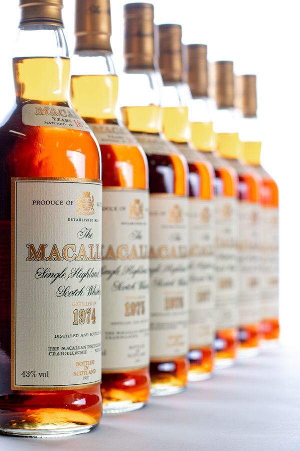 A vertical of Macallan 18 Year Olds - sold for £44,000